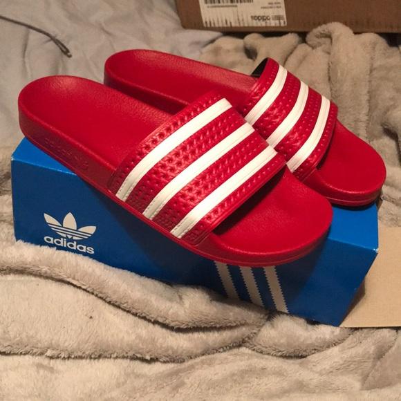 51ff5e15abec Adidas Adilette Slides (Red)